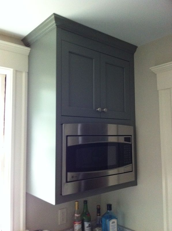 Microwave Cabinet, more counter space.