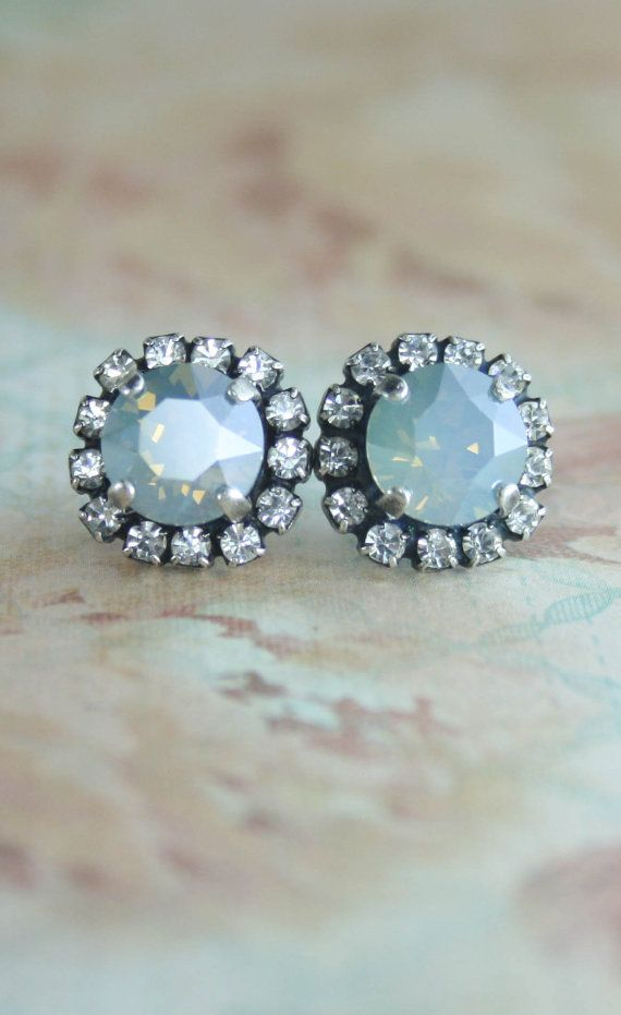 Dusty blue earrings | Dusty blue wedding | dusty blue | powder blue | www.endorajewellery.etsy.com