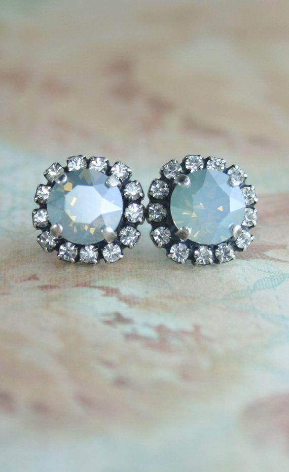 Dusty blue earrings,dusty blue bridesmaid earrings,dusty ...
