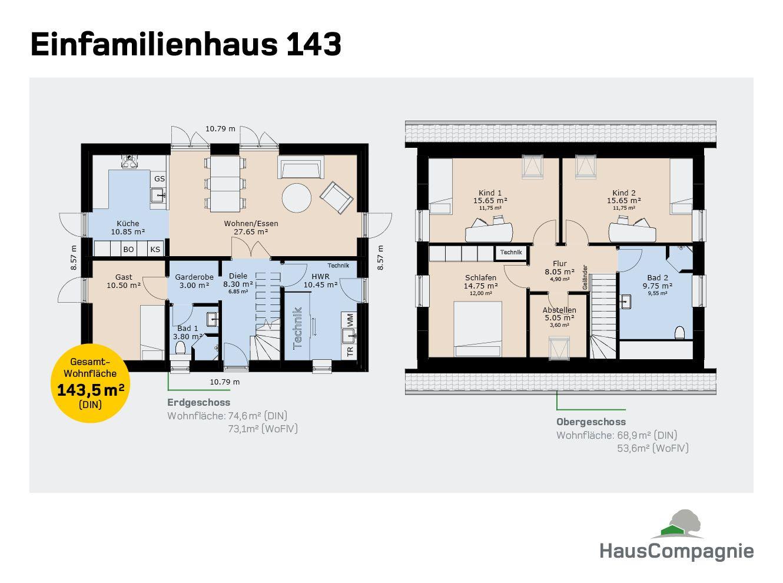 Grundrisse Grundriss, Erdgeschoss und Garderobenraum