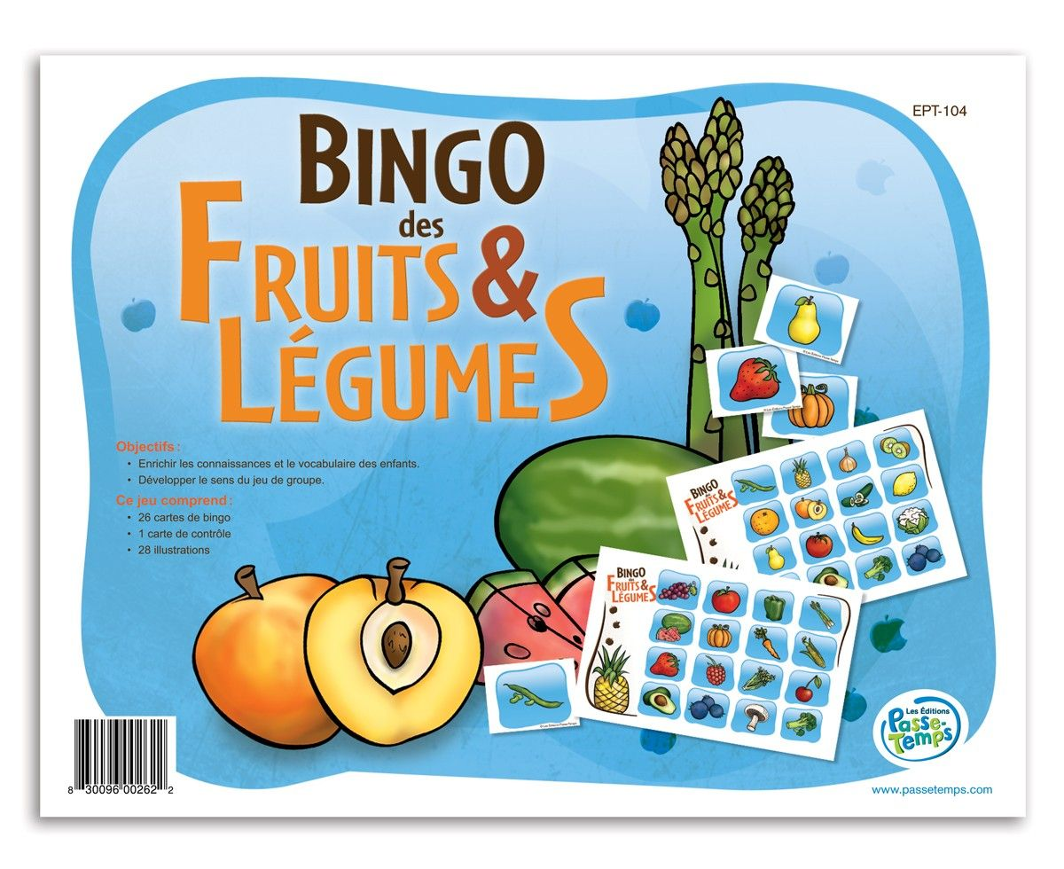Bingo des fruits et légumes Bingo, Comics, Art