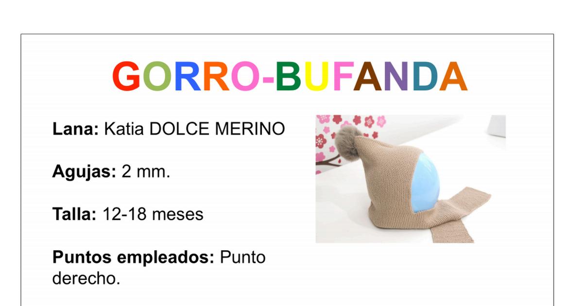 patron completo gorro bufanda.pdf | tejido | Pinterest | Patrones ...