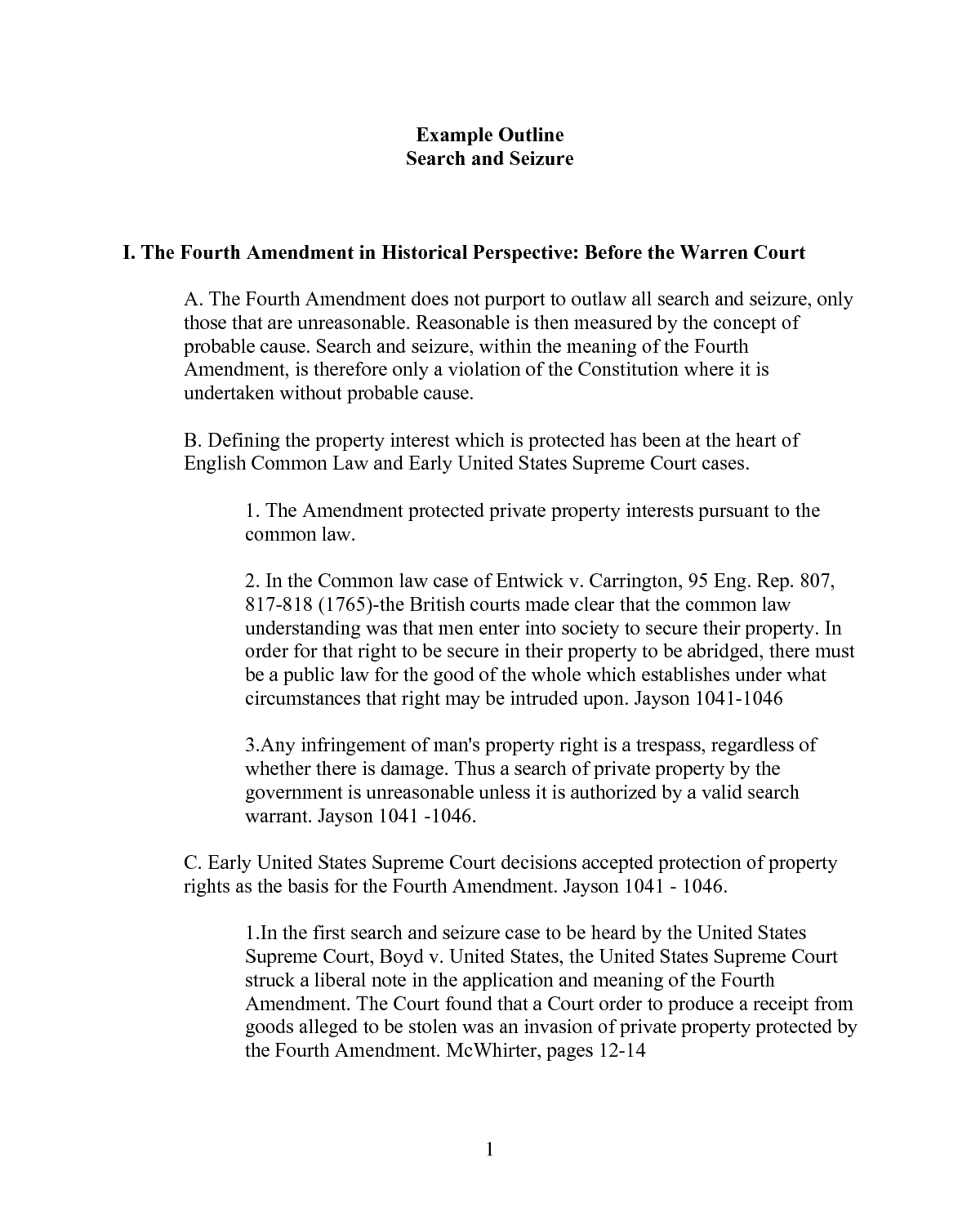 pictures of fourth amendment case example outline search and pictures of fourth amendment case example outline search and seizure i the fourth amendment