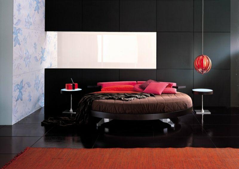 Rundes Bett als moderner Akzent im Schlafzimmer 20 Ideen - moderne betten ideen