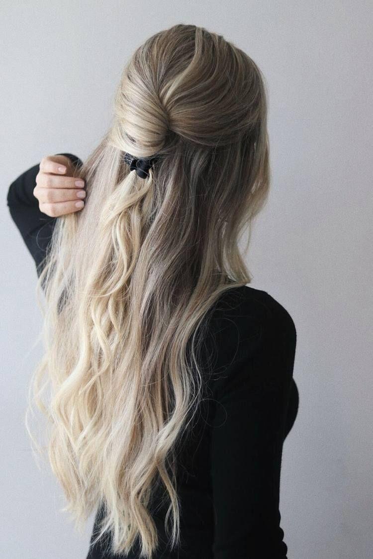 Frisur Mit Haarspange Viele Einfache Ideen Zum Haare Stylen Haare Stylen Lange Haare Langhaarfrisuren
