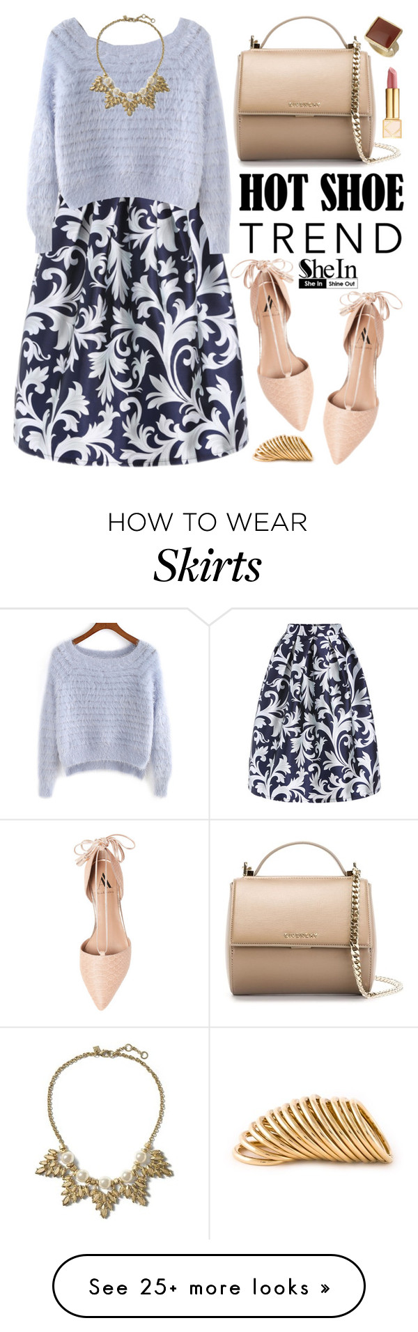 """Shein"" by oshint on Polyvore featuring Ava & Aiden, Givenchy, Tory Burch, Dorothy Perkins, Banana Republic, Shaun Leane, flats, Sheinside and shein"