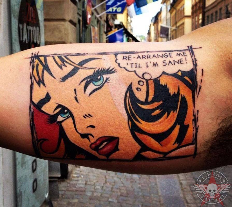 Pin By Joanie Dalle On Tattoos Book Inspired Tattoos Comic Tattoo Pop Art Tattoos