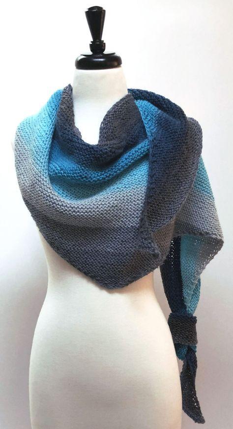 Beginner's best - Shawl One free knit pattern | Scarf ...