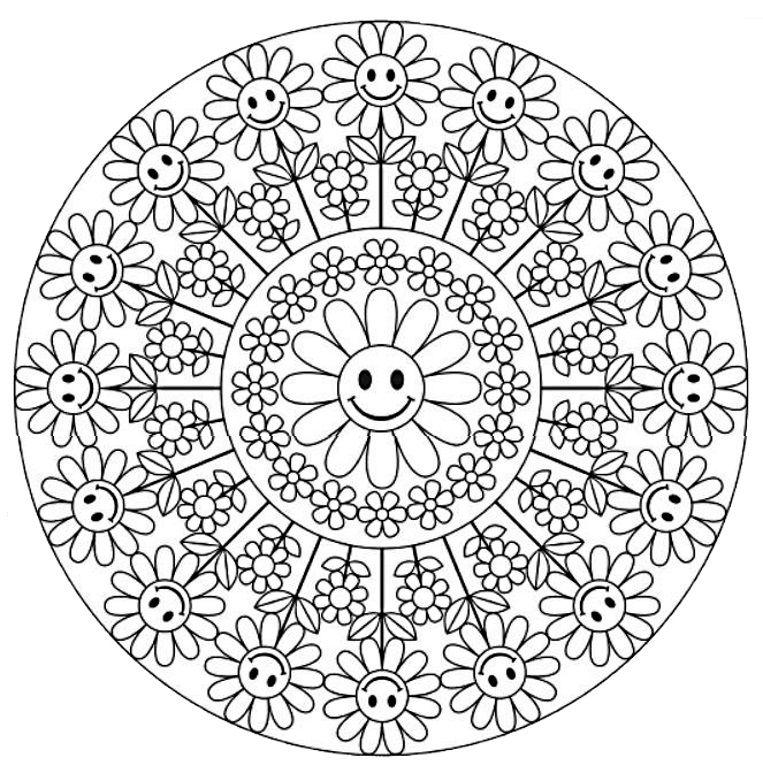 Mandala 640 Creative Haven Groovy Mandalas Coloring Book Dover Publications Mandala Ausmalen Malvorlagen Mandala Malvorlagen