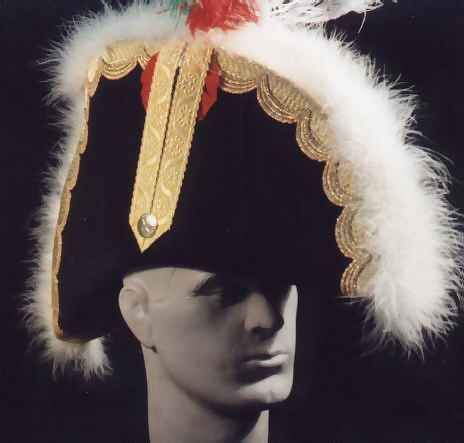 Example of head wear worn by a French General officer during the Napoleonic Era.