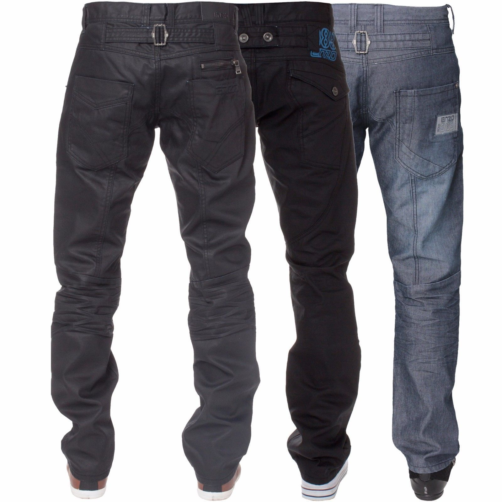 Enzo Mens Straight Jeans