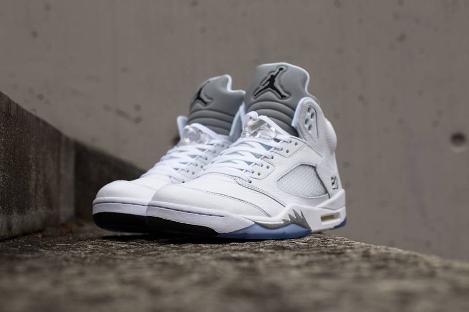 detailed look ce8cf a0f5b ... netherlands click to order air jordan 5 retro white metallic silver  fashion nike shopping sneakers shoes