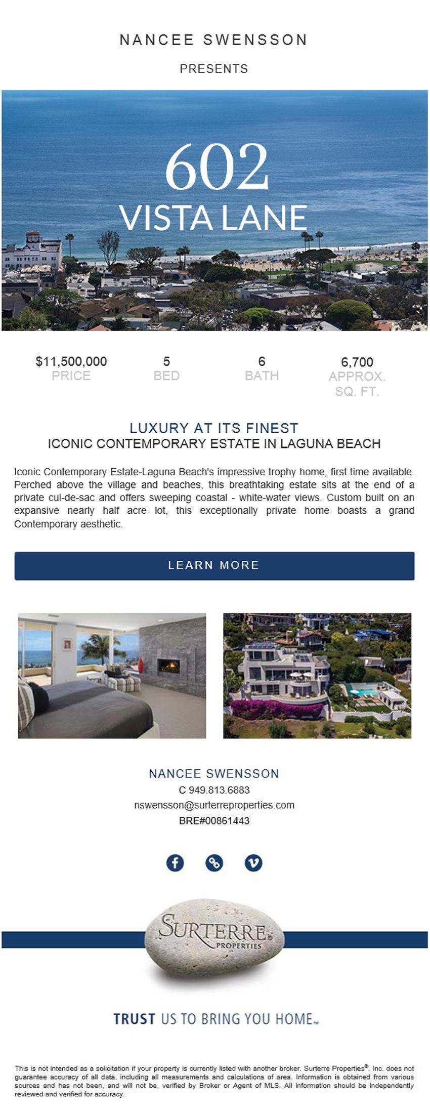 Home for Sale in Laguna Beach, California Iconic