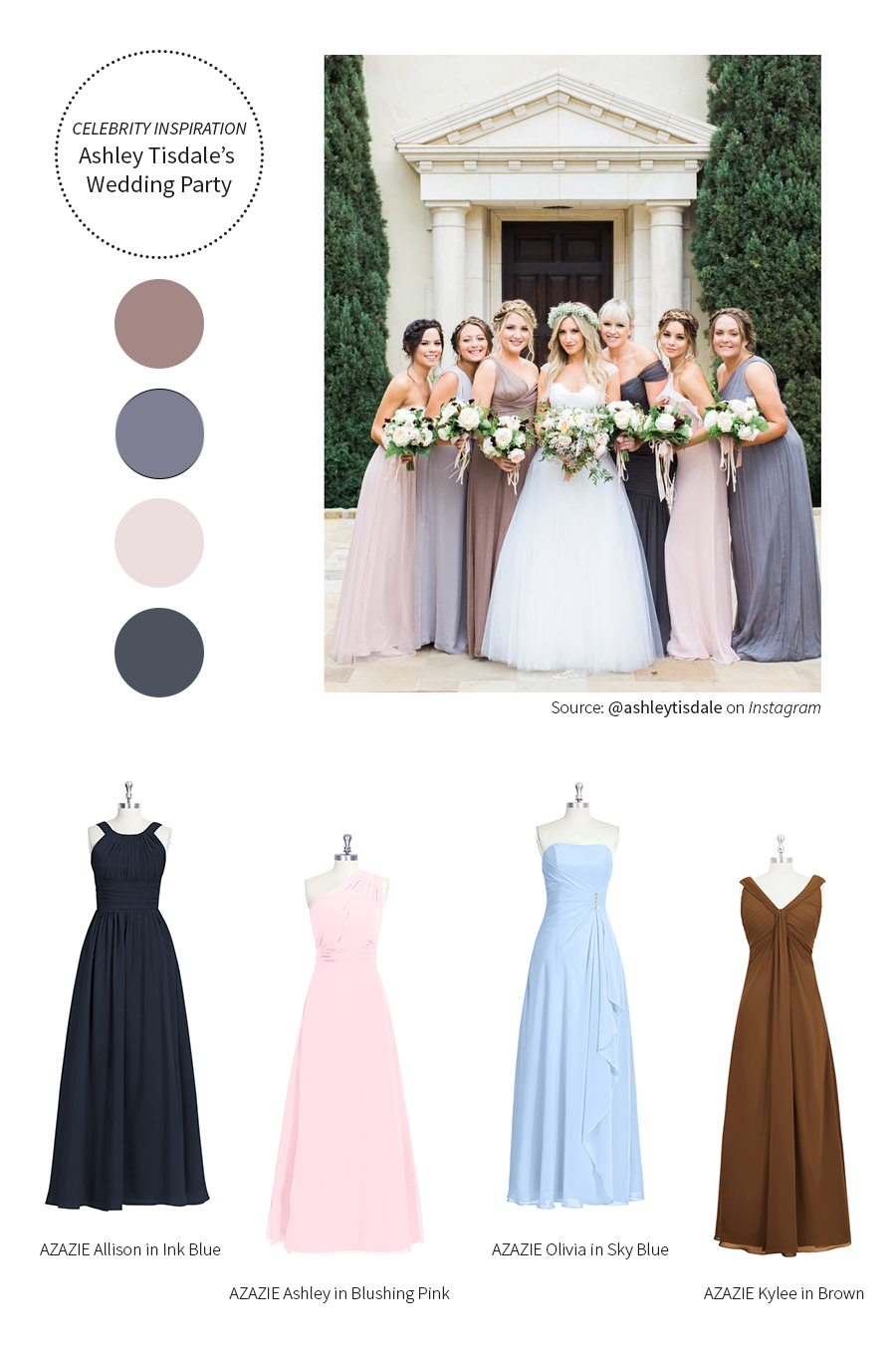 Azazieashleytisdaleinspirationbridesmaiddresses wedding dresses pay more attention to the dots not the actually dresses hahaha ombrellifo Image collections