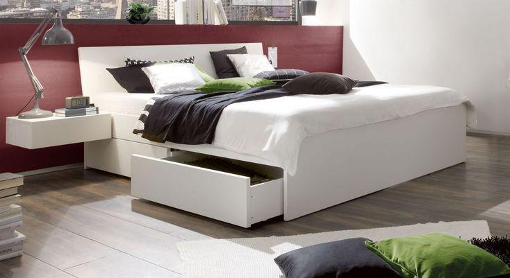 Modernes SchubkastenDoppelbett Liverpool in Weiß Haus