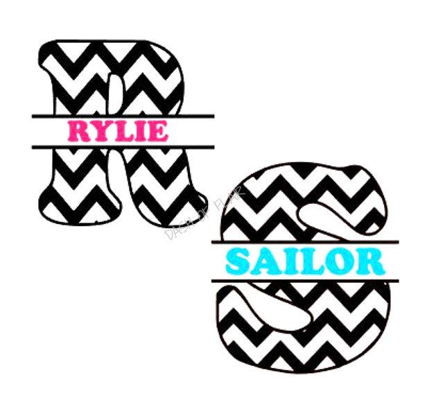 New to dashofflair on etsy chevron yeti cup decal monogram decal custom name decal personalized decal yeti tumbler decal gift for her initial decal custom
