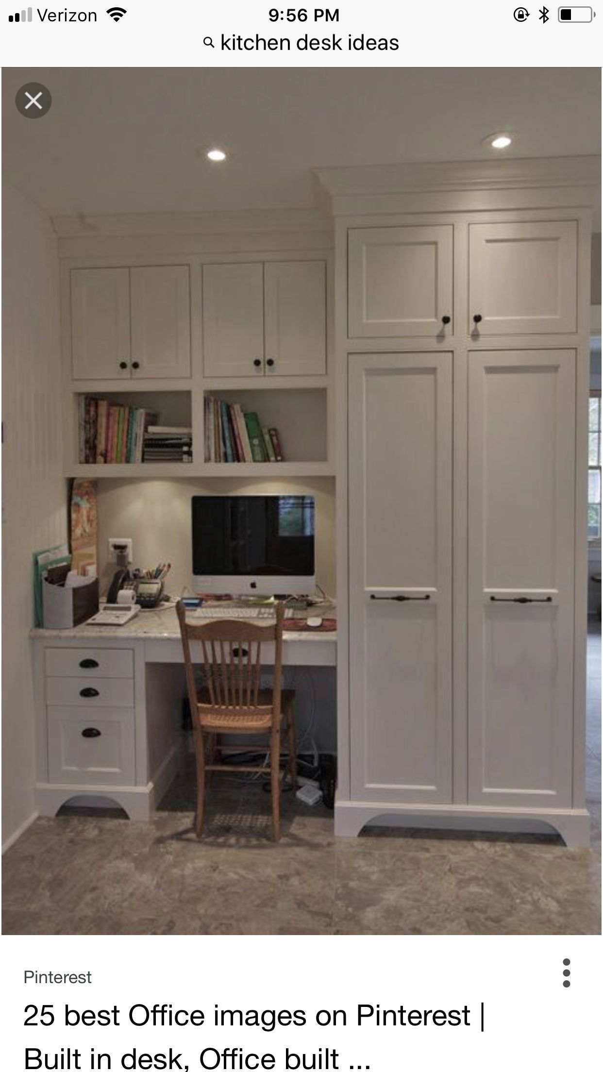 Pin By Adrienne Brunette On Home Decor Home Office Design Build A Closet Office Built Ins