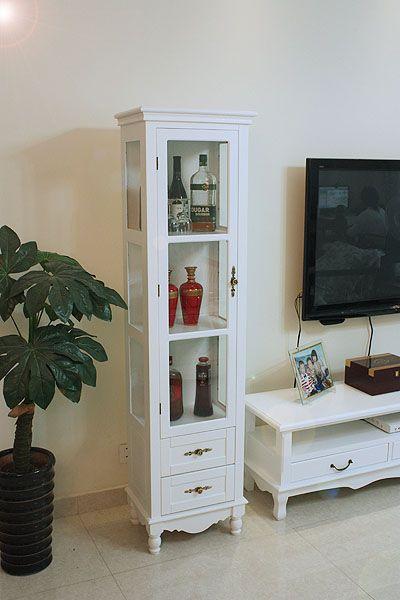 La simplicidad pastoral moderna europea esquina cristal vino gabinete blanco decoración de madera de pequeño vinos ofertas armario