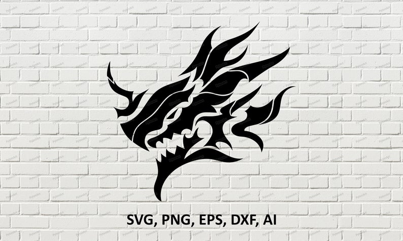 Dragon Art Design Svg Dragon Stencil Digital Png Dragon Etsy Dragon Art Art Design Wolf Silhouette