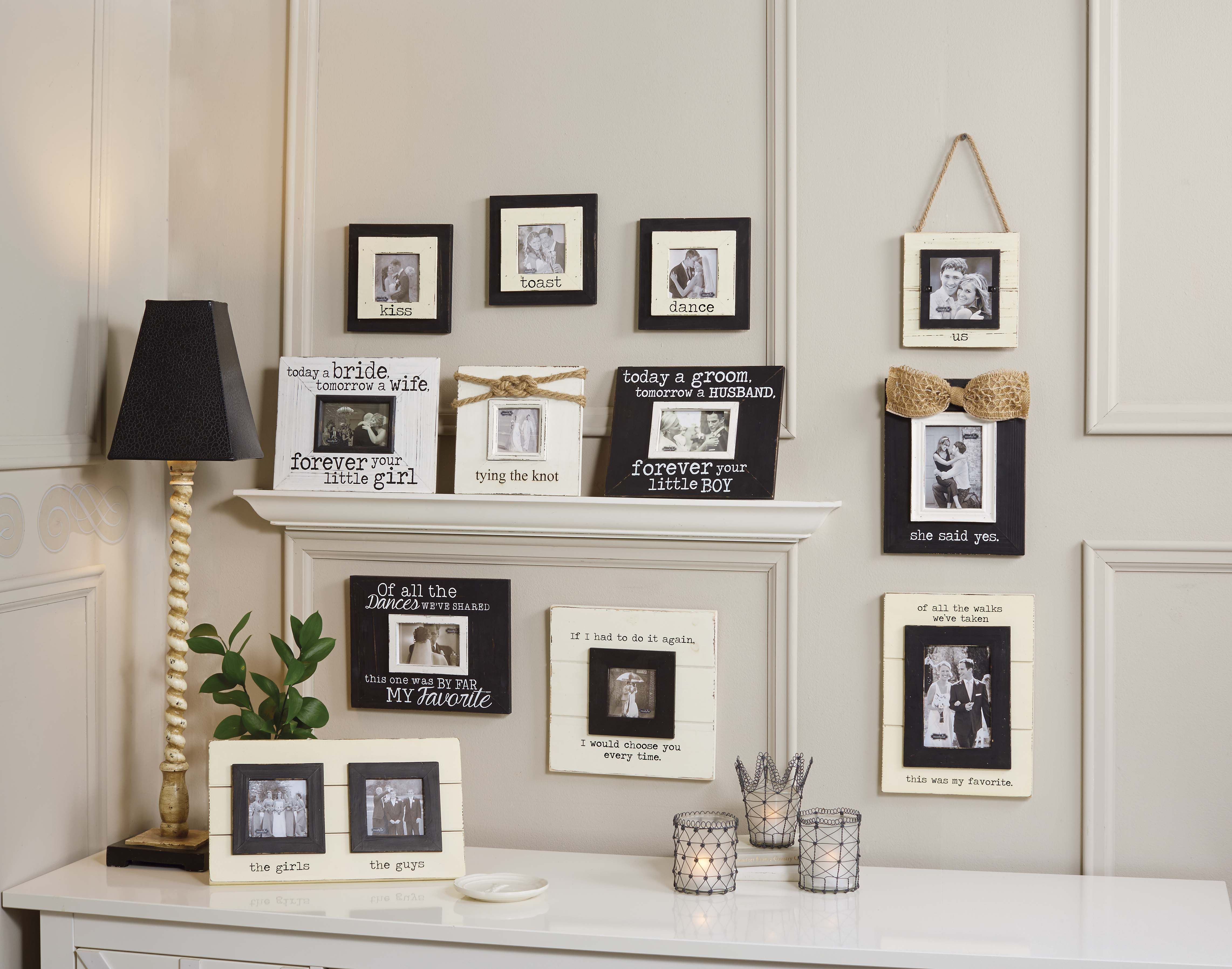Wedding Gallery Wall Is A Great Way To Display Photos At Home