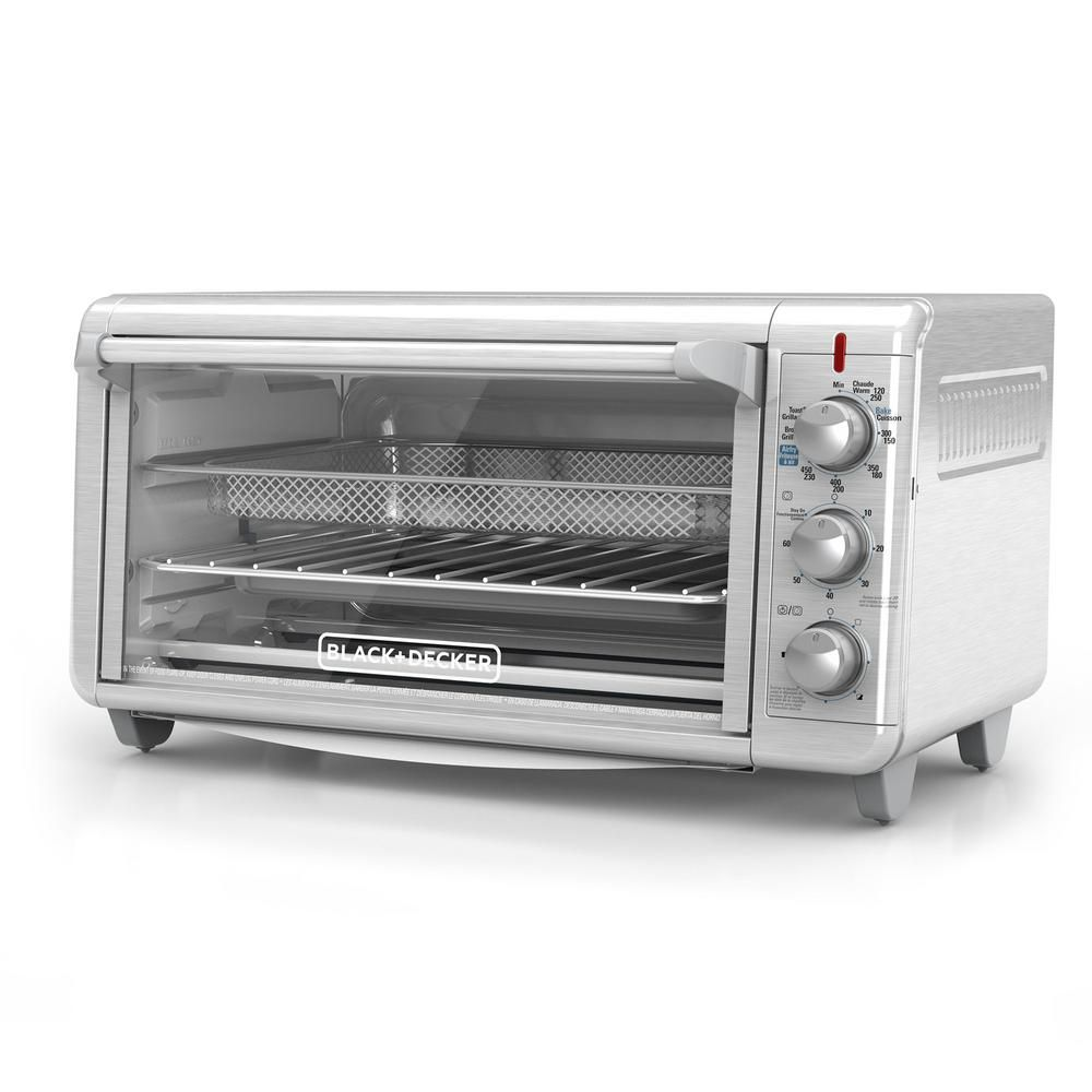 Black Decker Extra Wide Crisp N Bake 1500 W 8 Slice Stainless