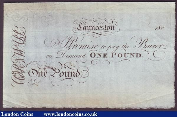 LAUNCESTON £1 PROMISSORY NOTE Cornwall \u0027Unissued remainder date - demand promissory note