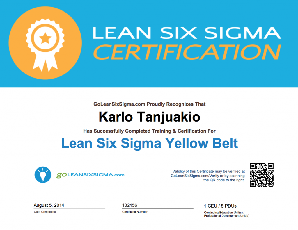 Earn CEUs and PDUs For Green Belt & Yellow Belt Training ...