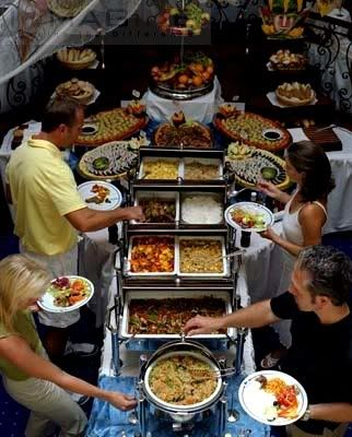 T Shaped Buffet Set up. Source: free public #weddingbuffet ...