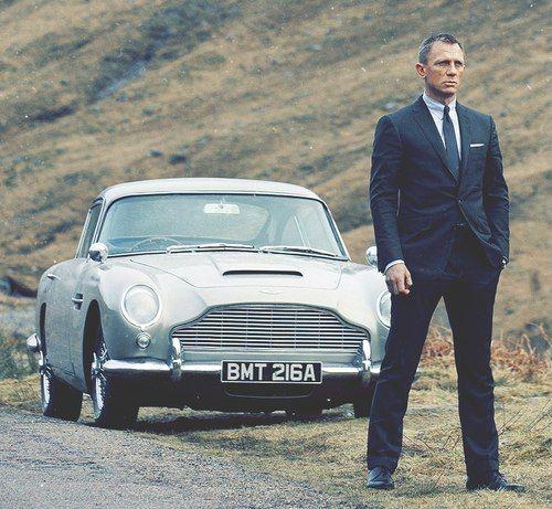 Aston Martin DB5 And James Bond   Skyfall