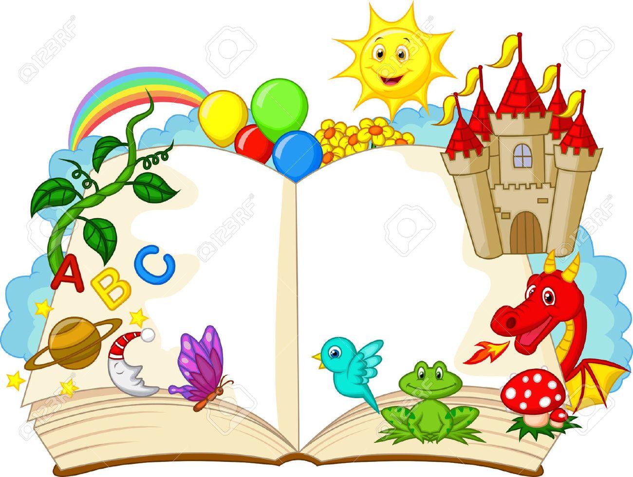 Fantasy Book Cartoon Royalty Free Cliparts Vectors And Stock