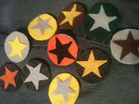 Felt Sheriff's Star Badges by ChickenSaladRanch on Etsy, $10.00