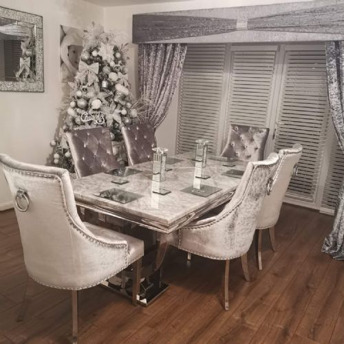 25 Elegant And Exquisite Gray Dining Room Ideas: Luxury Grey Marble Dining Room Furniture Now In Our New