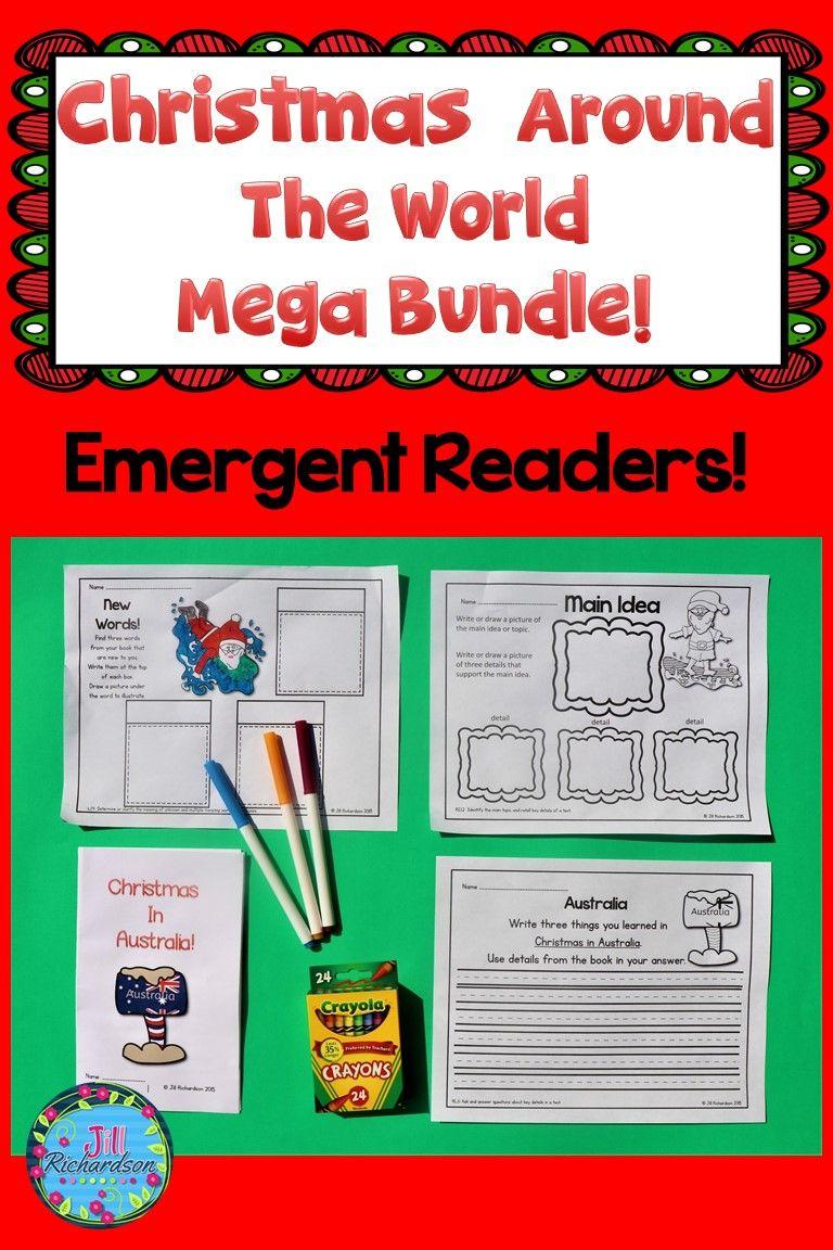 Christmas Around The World Activities Emergent Readers Kindergarten Themes Elementary School Science [ 1152 x 768 Pixel ]