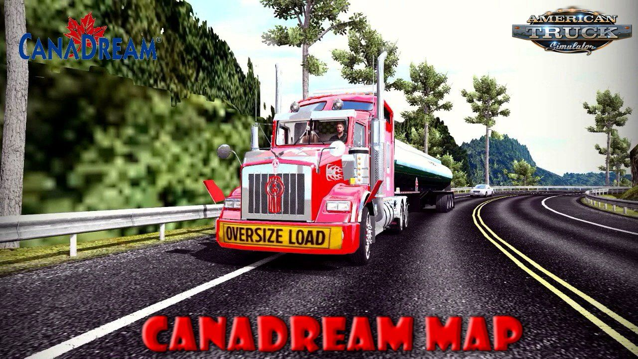 Canadream Map V2 8 7 By Maniax 1 34 X For Ats