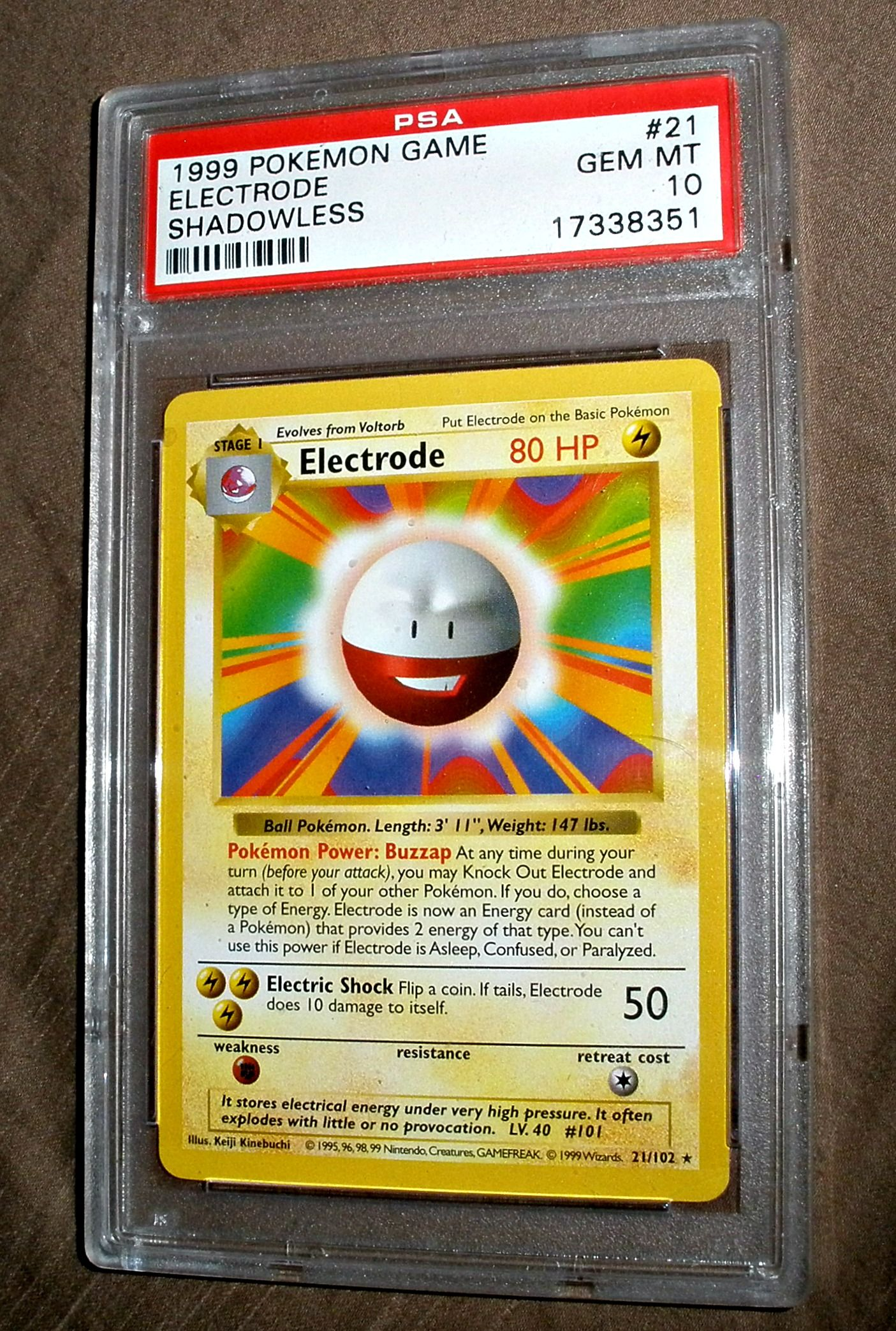 COOL ELECTRODE POKEMON CARDS