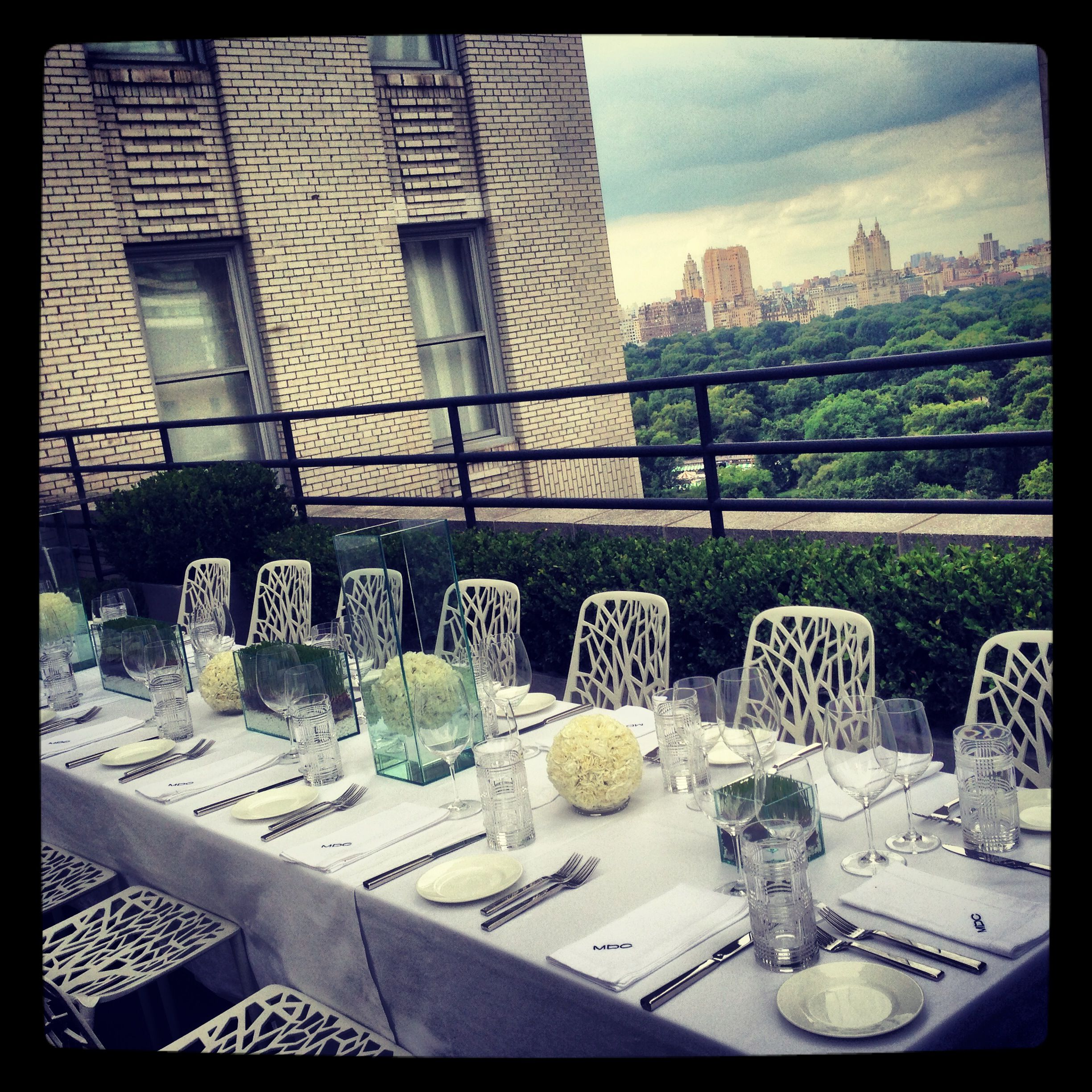 a golfthemed rooftop dinner party Tablescapes, Table