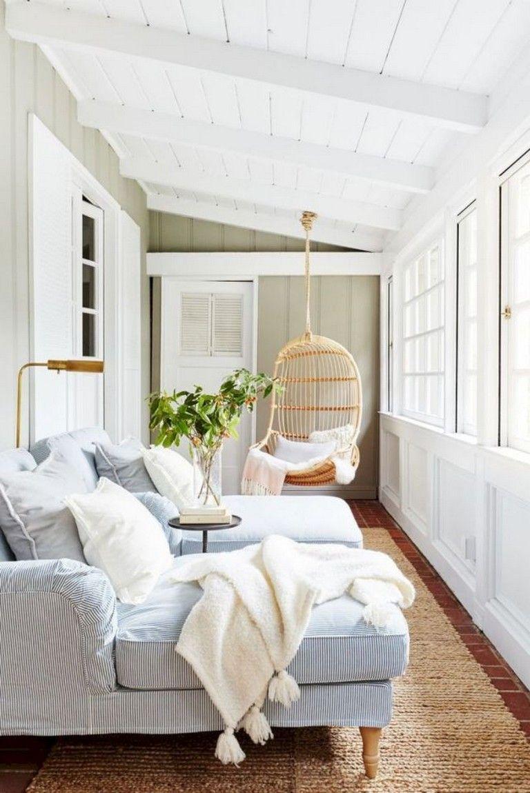 43 Amazing Farmhouse Sunroom Makeover Ideas Small Sunroom
