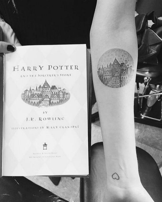 Minimalist Harry Potter Tattoos That Are Pure Magic 7 Harry Potter Tattoos Hogwarts Tattoo First Tattoo