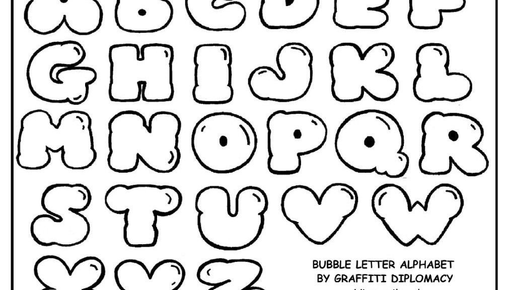picture regarding Bubble Letter Alphabet Printable named Free of charge Printable Letters Sizing Alphabet Bubble Letters