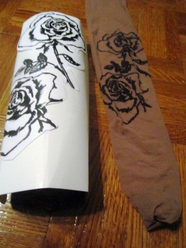Photo of #DIY Tattoo Tights.  They use sharpie to trace but I wonder if you couldn't do m… – Homemade Tattoo 2020