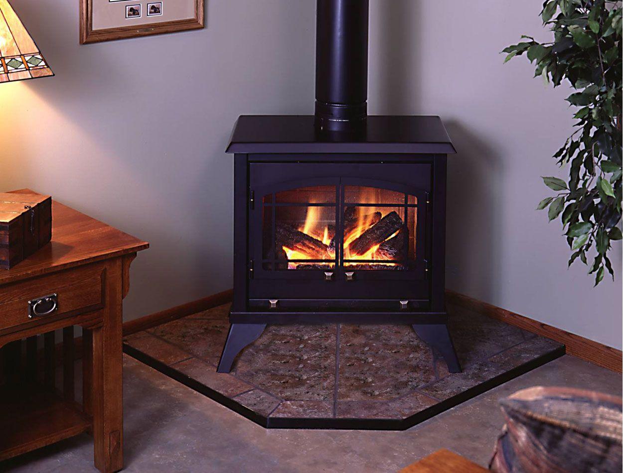 44++ Freestanding corner gas fireplace ideas