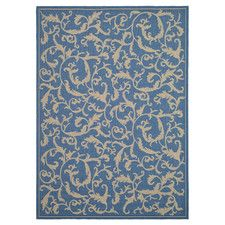 Courtyard Blue/Natural Persian Outdoor Rug