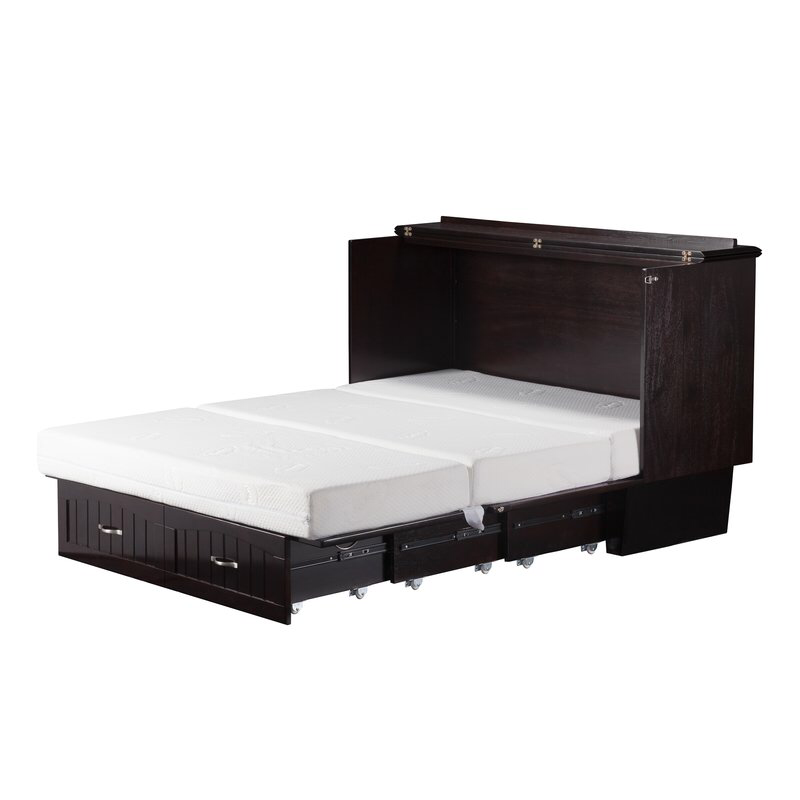 Graham Queen Storage Murphy Bed with Mattress Queen