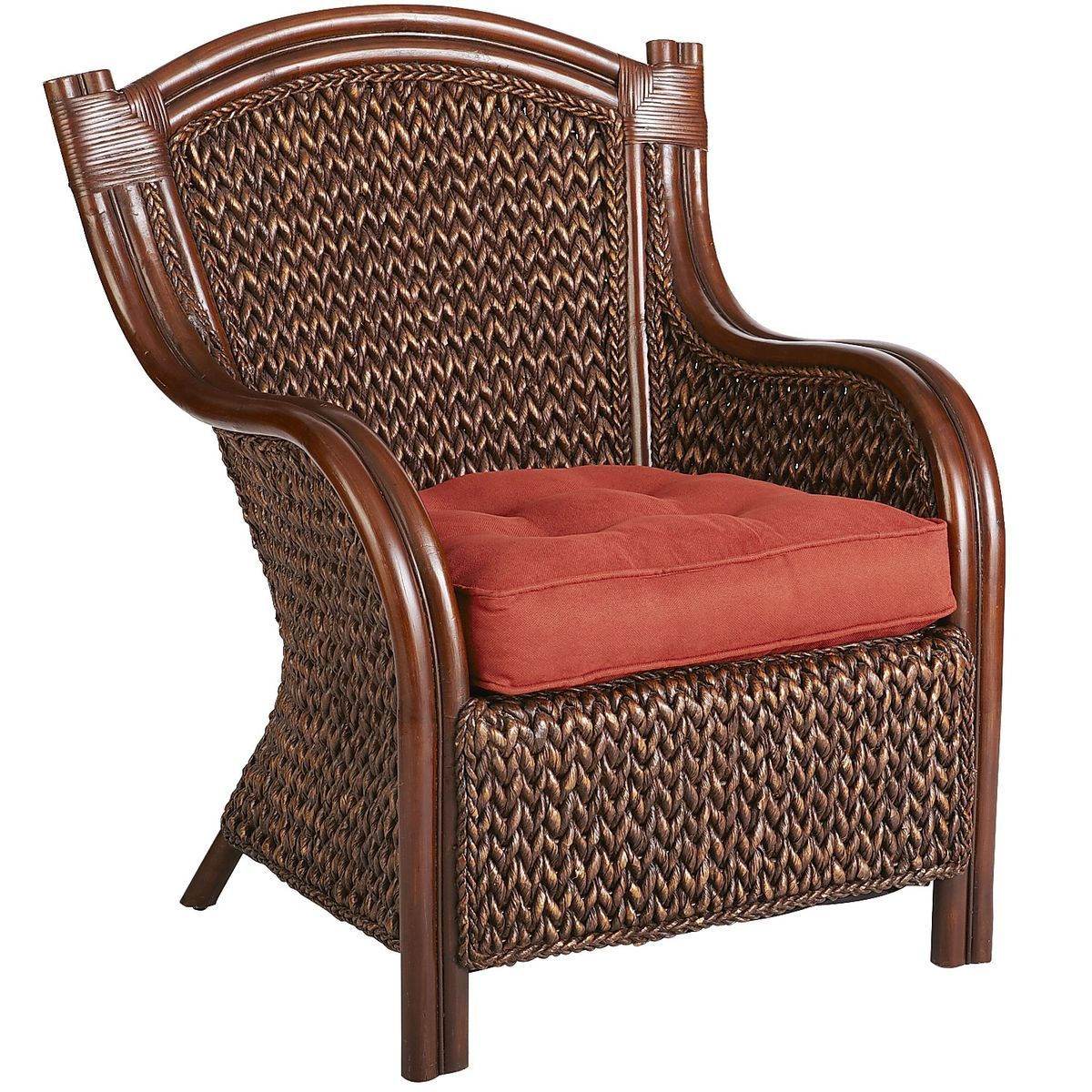 Superbe King Armchair   Brown | Pier 1 Imports
