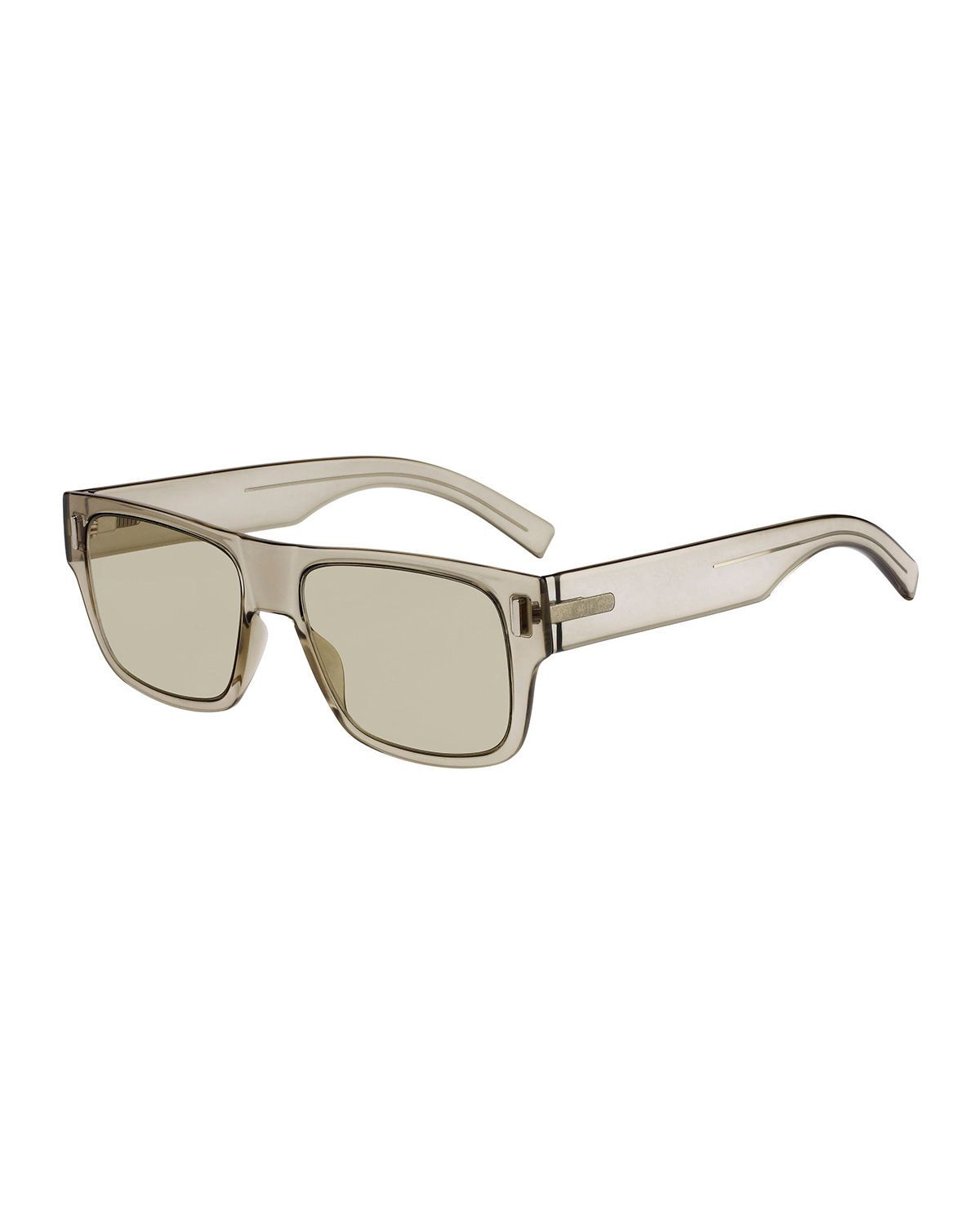 7140b6e16a08 DIOR MEN S FRACTION 4 FLAT-TOP NYLON SUNGLASSES.  dior