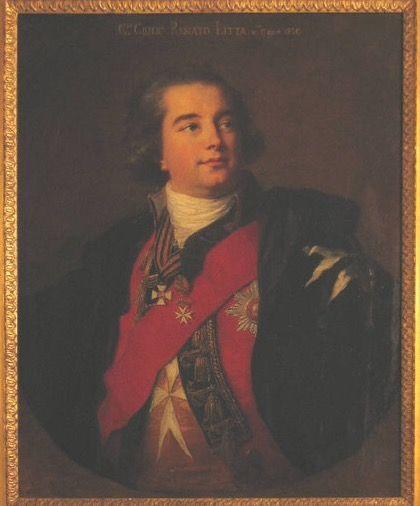 "Vigée-Le Brun Elisabet Louise (1755/1842) ""Portrait of Giulio Renato Litta Visconti Arese"", Milano, GAM"