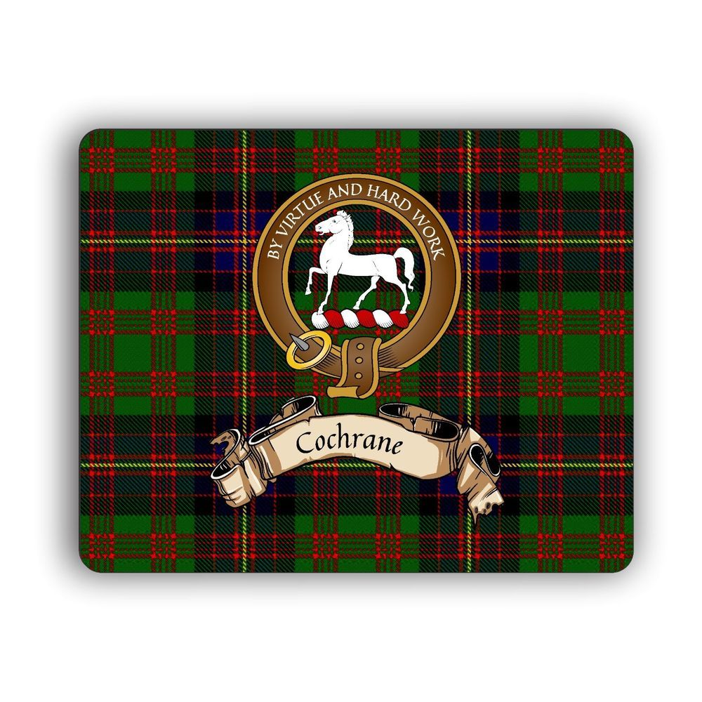 Details about cochrane scottish clan tartan mouse pad with
