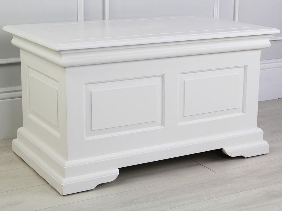 White Painted Blanket Box Blanket Box Blanket Box