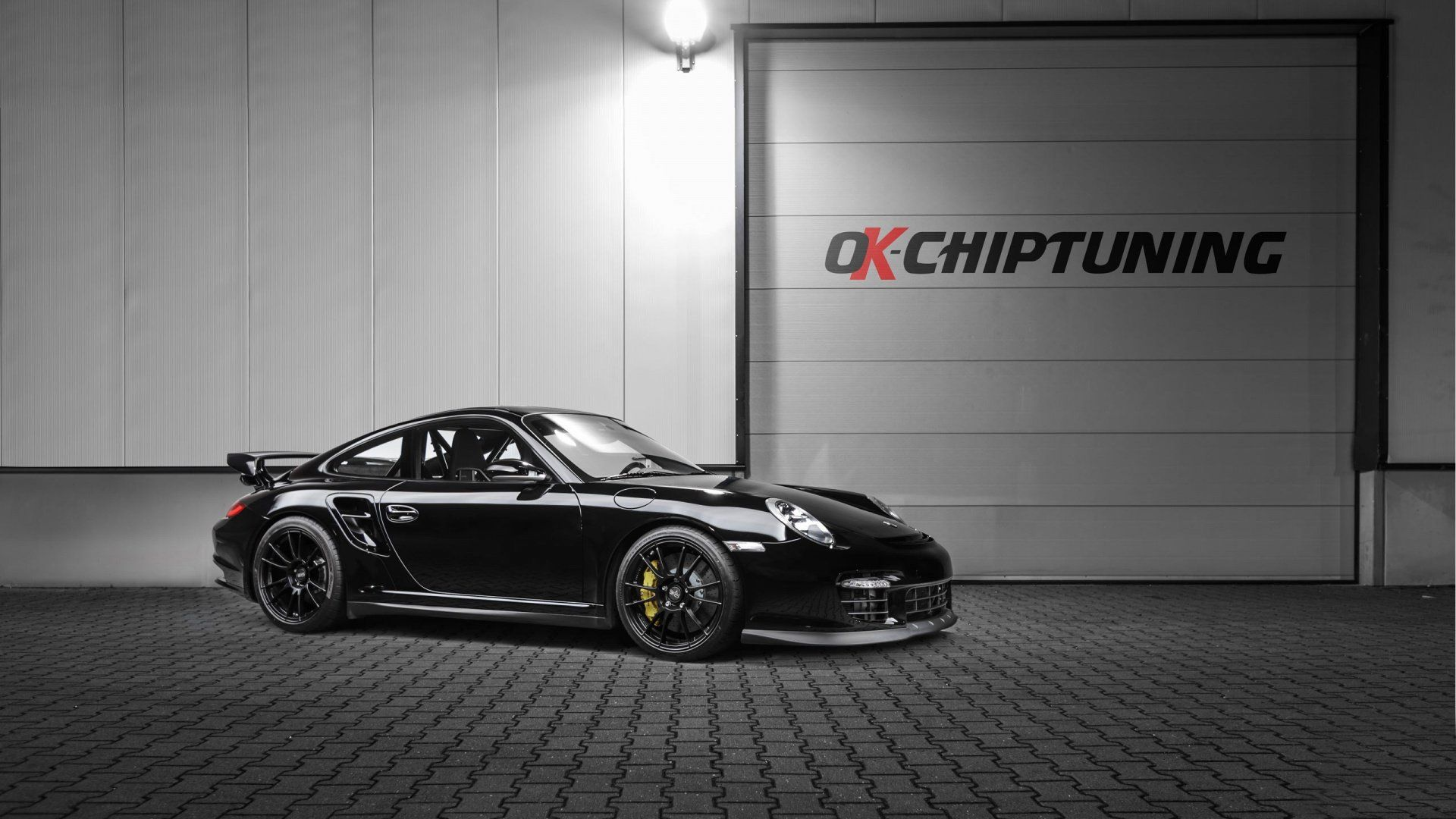 black 2015 porsche 911 turbo s wallpaper