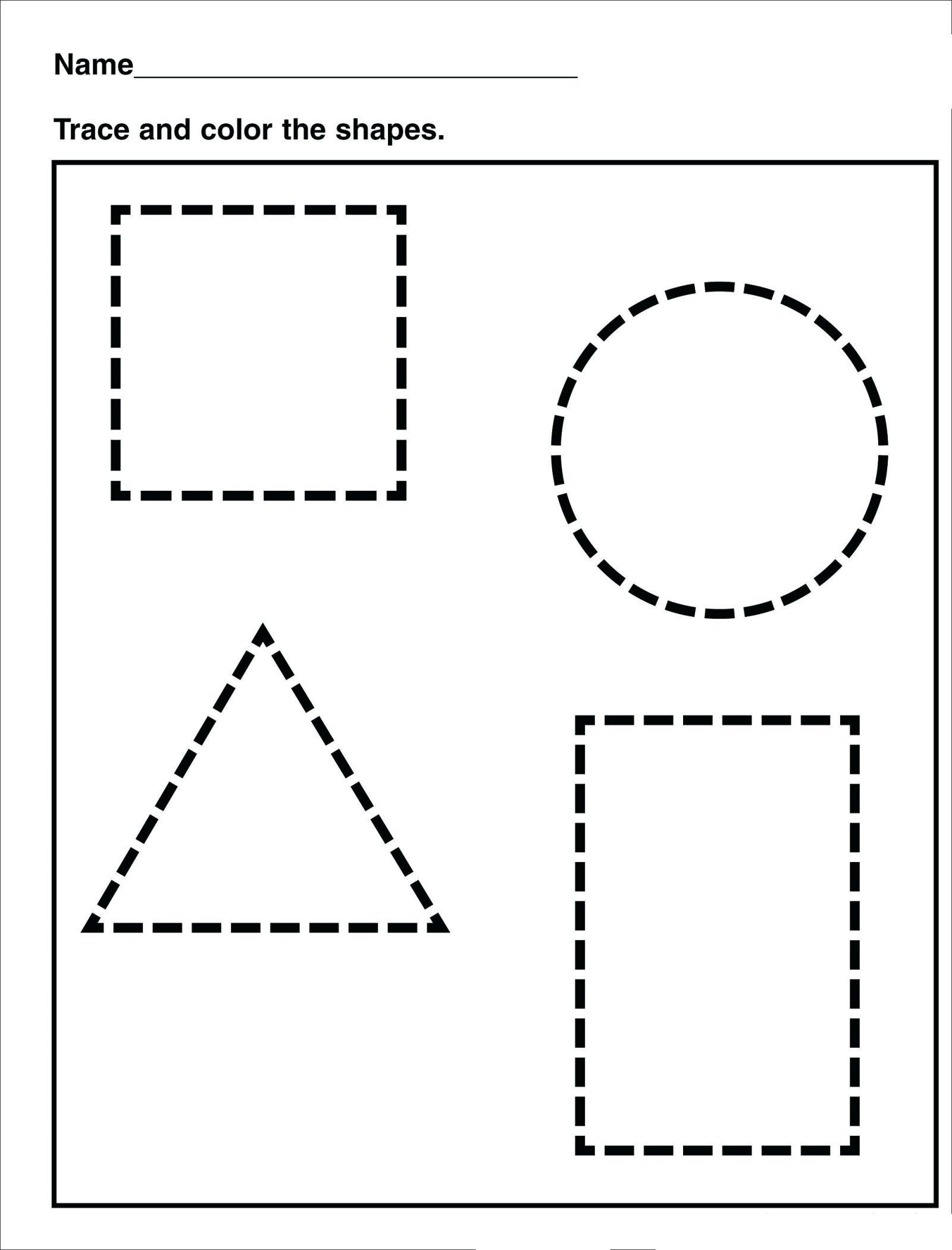 4 Free Shape Worksheets Drawing In